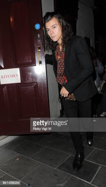 Harry Styles attends the Anotherman 10th anniversary party at Lou Lou's on June 15 2015 in London England