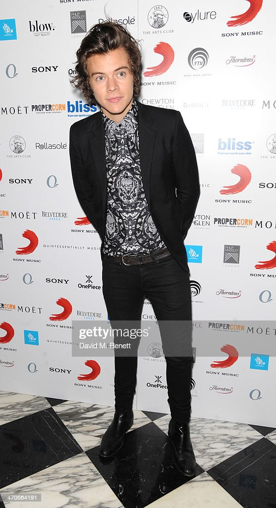Harry Styles attends The BRIT Awards 2014 Sony after party on February 19, 2014 in London, England.