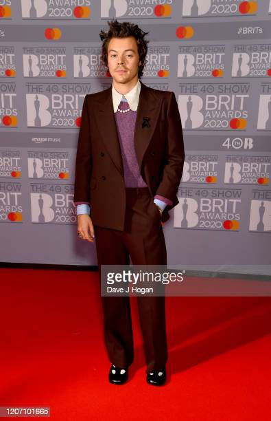 Harry Styles attends The BRIT Awards 2020 at The O2 Arena on February 18 2020 in London England
