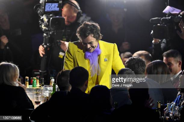 Harry Styles attends The BRIT Awards 2020 at The O2 Arena on February 18, 2020 in London, England.