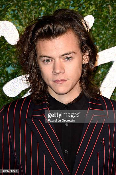Harry Styles attends the British Fashion Awards at London Coliseum on December 1 2014 in London England