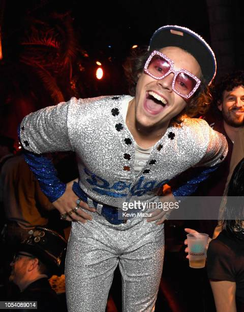 Harry Styles attends the Casamigos Halloween Party on October 26, 2018 in Beverly Hills, California.