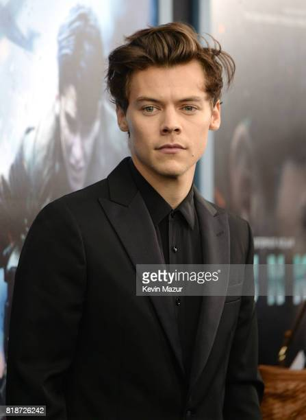 Harry Styles attends the DUNKIRK premiere in New York City