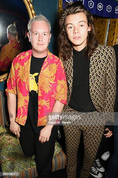 Harry Styles attends the Love Magazine miu miu London Fashion Week party at Loulou's on September 21 2015 in London England