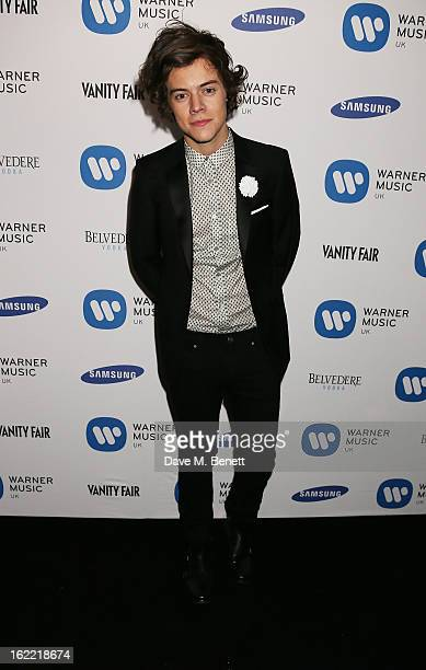 Harry Styles attends the Warner Music Group Post BRIT Party In Association With Samsung at The Savoy Hotel on February 20, 2013 in London, England.