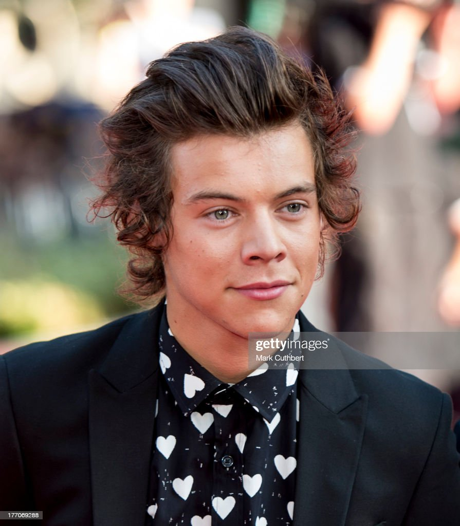 Harry Styles attends the World Premiere of 'One Direction: This Is Us' at Empire Leicester Square on August 20, 2013 in London, England.