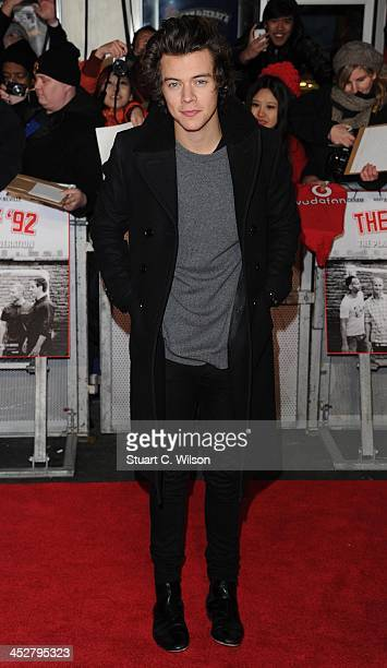 Harry Styles attends the World premiere of 'The Class of 92' at Odeon West End on December 1 2013 in London England