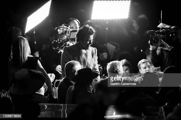 Harry Styles during The BRIT Awards 2020 at The O2 Arena on February 18 2020 in London England