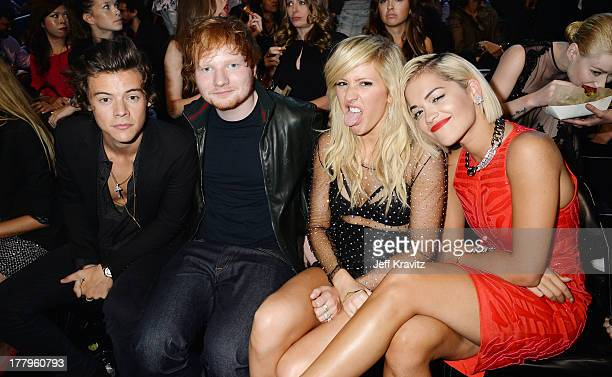 Harry Styles Ed Sheeran Ellie Goulding and Rita Ora attend the 2013 MTV Video Music Awards at the Barclays Center on August 25 2013 in the Brooklyn...