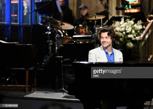 LIVE Harry Styles Episode 1773 Pictured Host Harry Styles during the monologue on Saturday November 16 2019