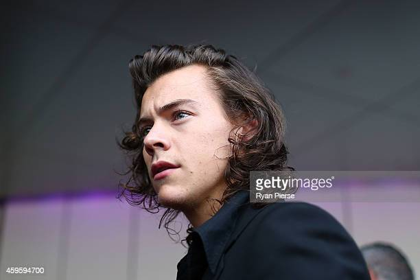 Harry Styles from One Direction arrive at the 28th Annual ARIA Awards 2014 at the Star on November 26 2014 in Sydney Australia