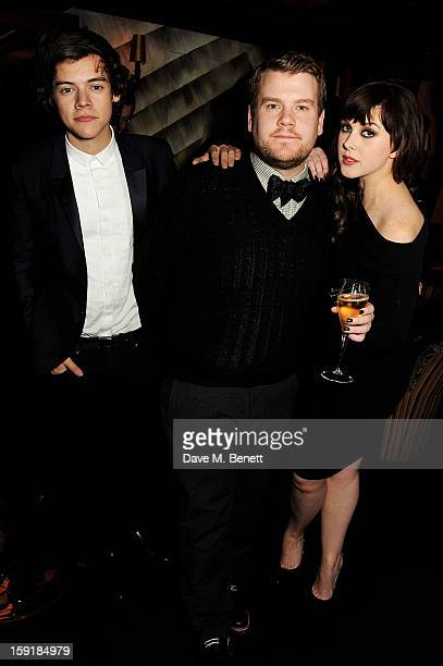 Harry Styles James Corden and Alexandra Roach attend a private dinner hosted by Tom Ford to celebrate his runway show during London Collections MEN...