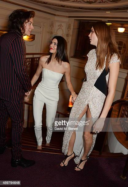 Harry Styles, Kendall Jenner and Model of the Year winner Cara Delevingne attend the British Fashion Awards at the London Coliseum on December 1,...