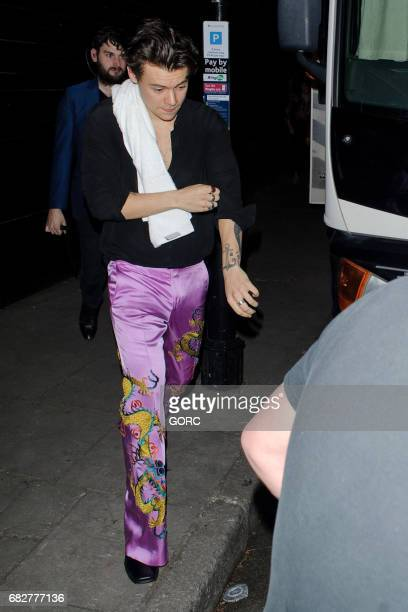 Harry Styles leaving a secret gig at the Garage in Islington on May 13 2017 in London England