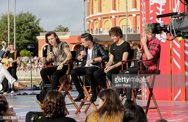 Harry Styles Liam Payne Louis Tomlinson and Niall Horan of One Direction perform on NBC's Today Show to release their new album 'Four' at Universal...
