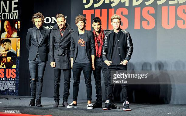 Harry Styles Liam Payne Louis Tomlinson Zayn Malik and Niall Horan of One Direction meet Japanese fans to promote 'The 1Derland THIS IS US' on...