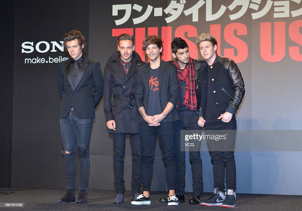 Harry Styles, Liam Payne, Louis Tomlinson, Zayn Malik and Niall Horan of One Direction meet Japanese fans to promote 'The 1Derland: THIS IS US' on November 3, 2013 in Chiba, Japan.