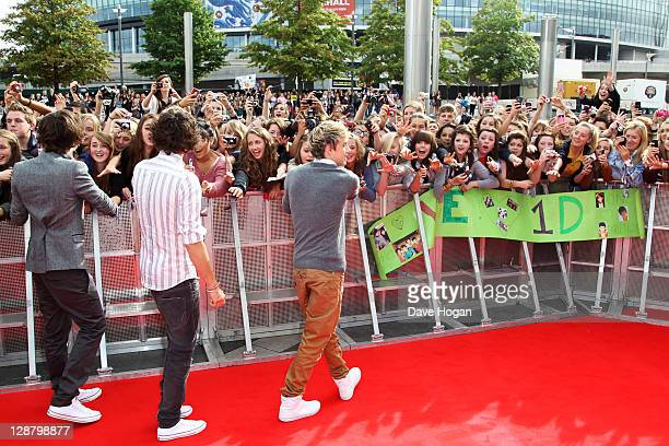 Harry Styles Louis Tomlinson and Niall Horan of One Direction attend the BBC Teen Awards at Wembley arena on October 9 2011 in London United Kingdom