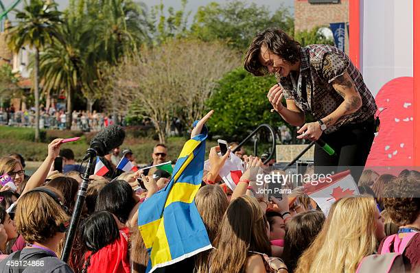 Harry Styles of One Direction appears on NBC's Today Show to release their new album 'Four' at Universal City Walk At Universal Orlando on November...