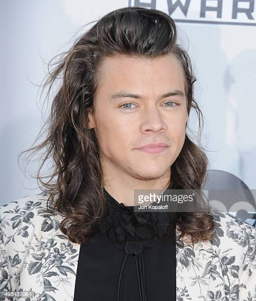 Harry Styles of One Direction arrives at the 2015 American Music Awards at Microsoft Theater on November 22 2015 in Los Angeles California