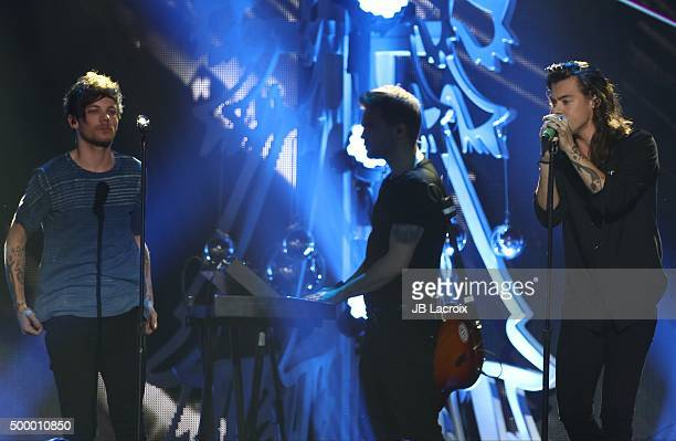 Harry Styles of One Direction performs during the KIIS FM's Jingle Ball 2015 presented by Capital One on December 4 2015 in Los Angeles California
