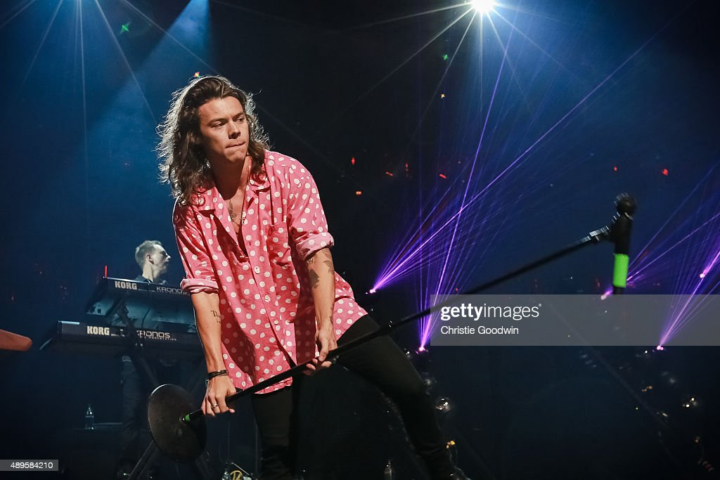 Harry Styles of One Direction performs on stage as part of Apple Music Festival at The Roundhouse on September 22, 2015 in London, England.