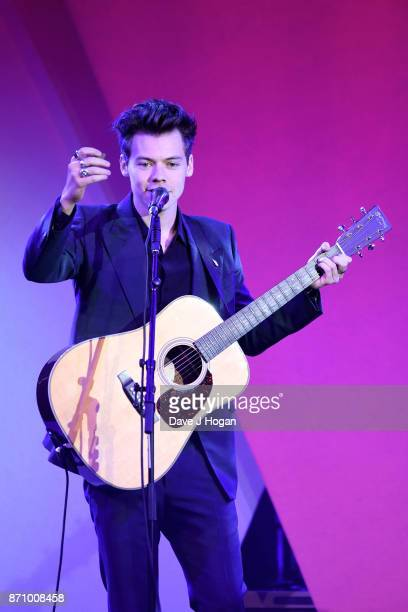 Harry Styles performs at the 26th annual Music Industry Trust Awards held at The Grosvenor House Hotel on November 6 2017 in London England