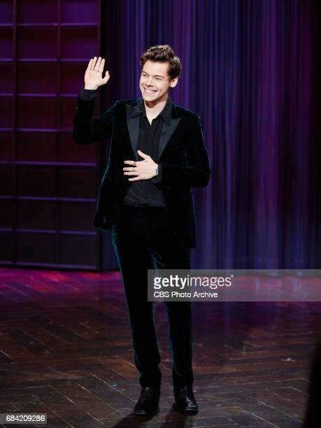 Harry Styles performs during The Late Late Show with James Corden Tuesday May 16 2017 On The CBS Television Network
