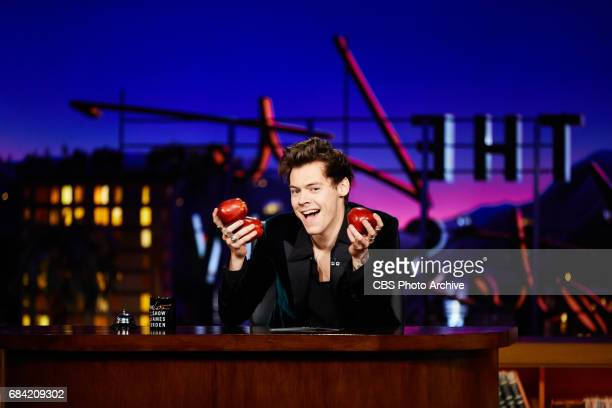 Harry Styles performs during 'The Late Late Show with James Corden' Tuesday May 16 2017 On The CBS Television Network