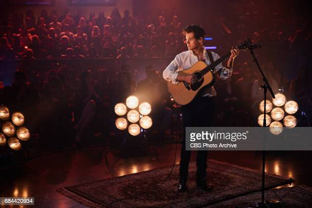 Harry Styles performs during 'The Late Late Show with James Corden' Wednesday May 17 2017 On The CBS Television Network