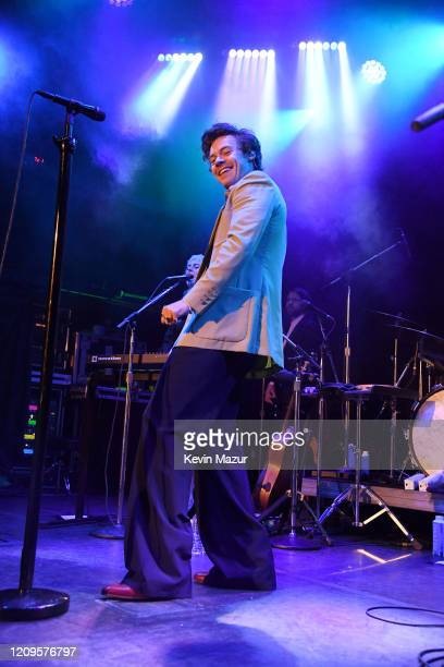 Harry Styles performs live on stage at iHeartRadio Secret Session with Harry Styles at the Bowery Ballroom on February 29 2020