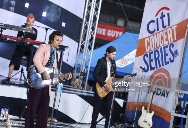 Harry Styles Performs On NBC's Today at Rockefeller Plaza on February 26 2020 in New York City