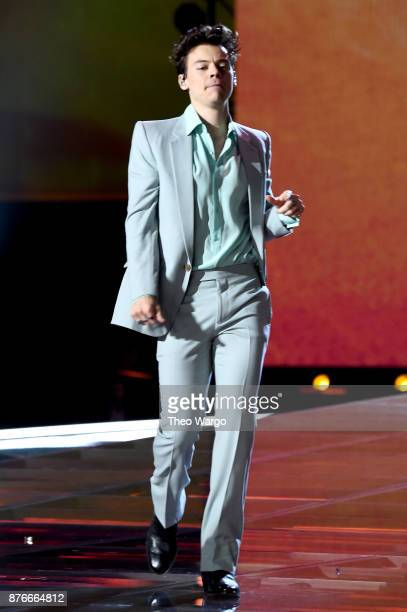 Harry Styles performs on the runway during the 2017 Victoria's Secret Fashion Show In Shanghai at MercedesBenz Arena on November 20 2017 in Shanghai...