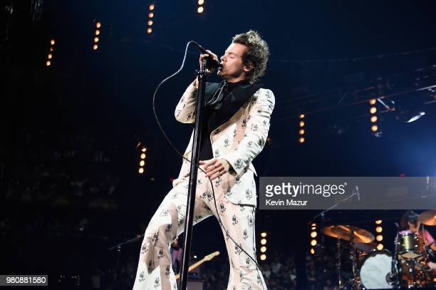 Harry Styles performs onstage during Harry Styles Live On Tour New York at Madison Square Garden on June 21 2018 in New York City