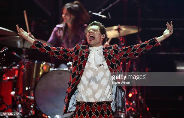 Harry Styles performs onstage during the 2017 iHeartRadio Music Festival at TMobile Arena on September 22 2017 in Las Vegas Nevada
