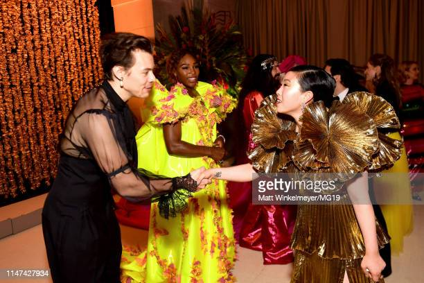 Harry Styles Serena Williams and Awkwafina attend The 2019 Met Gala Celebrating Camp Notes on Fashion at Metropolitan Museum of Art on May 06 2019 in...