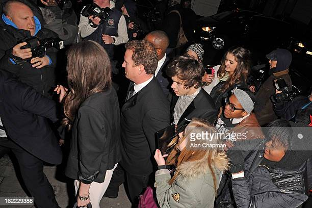 Harry Styles sighting at the Arts Club for the Sony BRITS after party on February 20 2013 in London England
