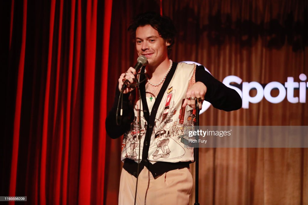 Spotify Celebrates The Launch Of Harry Styles' New Album With Private Listening Session For Fans : News Photo
