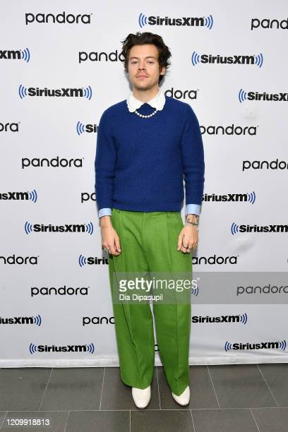Harry Styles visits SiriusXM Studios on March 02 2020 in New York City