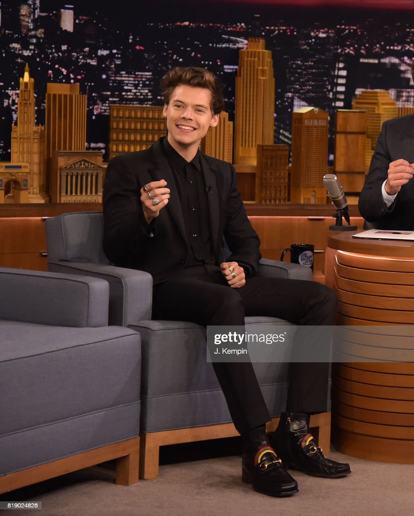 Harry Styles visits 'The Tonight Show Starring Jimmy Fallon' at Rockefeller Center on July 19, 2017 in New York City.