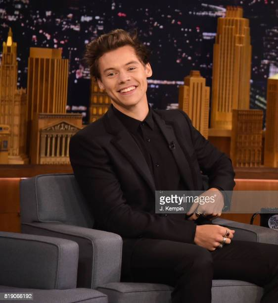 Harry Styles visits 'The Tonight Show Starring Jimmy Fallon' at Rockefeller Center on July 19 2017 in New York City