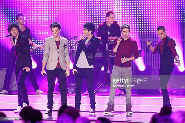 Harry Styles Zayn Malik Louis Thompson Liam Payne and Niall Horan of 'One Direction' attend 'BAMBI Awards 2012' at the Stadthalle Duesseldorf on...