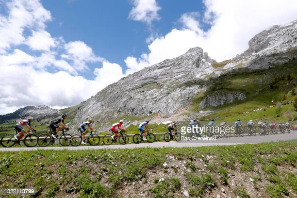 Harry Sweeny of Australia and Team Lotto Soudal, Franck Bonnamour of France and Team B&B Hotels P/B KTM, Imanol Erviti of Spain and Movistar Team,...
