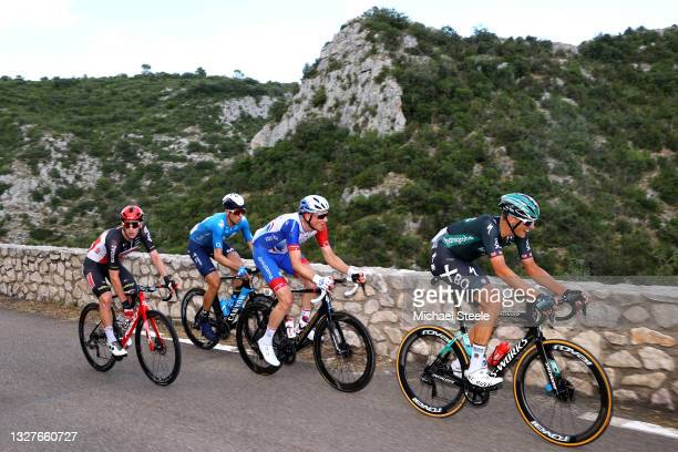 Harry Sweeny of Australia and Team Lotto Soudal, Imanol Erviti of Spain and Movistar Team, Stefan Küng of Switzerland and Team Groupama - FDJ & Nils...