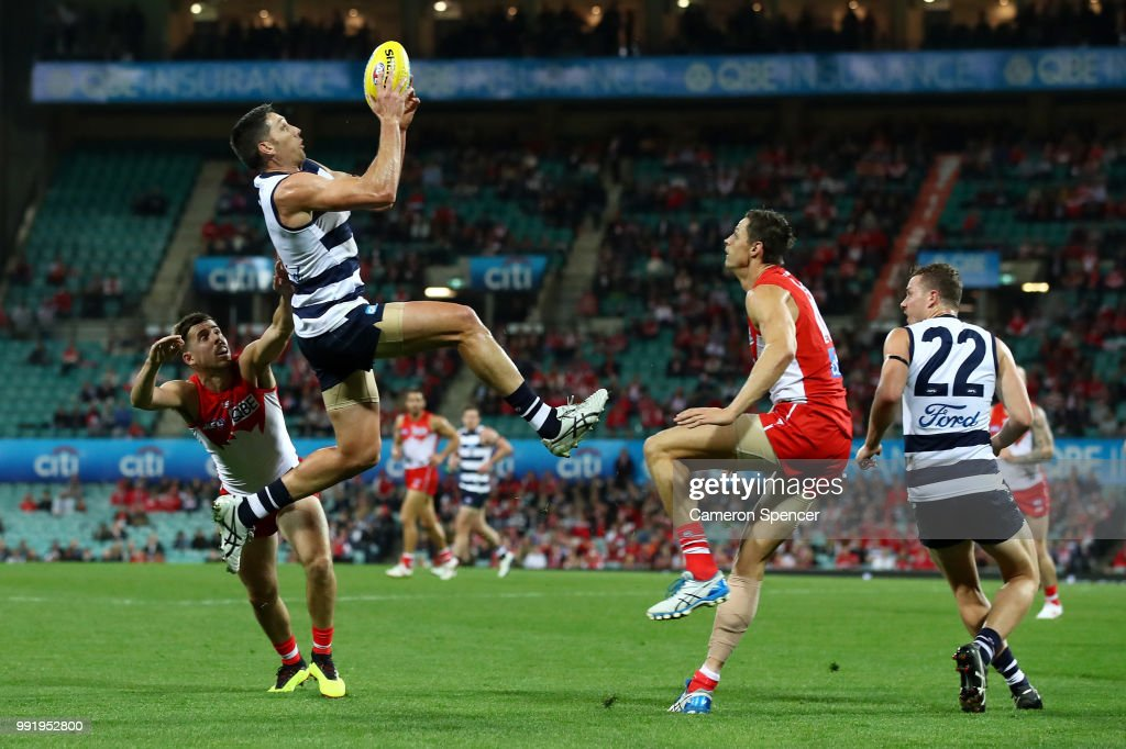 AFL Rd 16 - Sydney v Geelong : News Photo