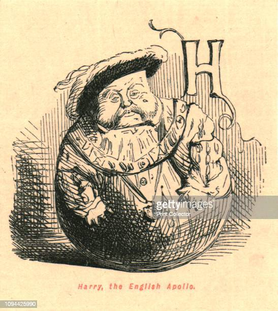 Harry the English Apollo' 1897 An obese King Henry VIII portrayed as a rolypoly toy From 'The Comic History of England' by Gilbert Abbott A Beckett...