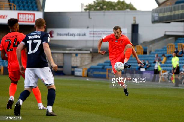 Harry Toffolo of Huddersfield Town during the Sky Bet Championship match between Millwall and Huddersfield Town at The Den on July 22 2020 in London...