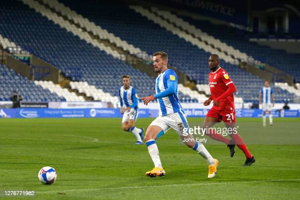 Harry Toffolo of Huddersfield Town during the Sky Bet Championship match between Huddersfield Town and Nottingham Forest at John Smith's Stadium on...