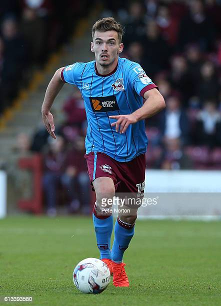 Harry Toffolo of Scunthorpe United in action during the Sky Bet League One match between Scunthorpe United and Northampton Town at Glanford Park on...