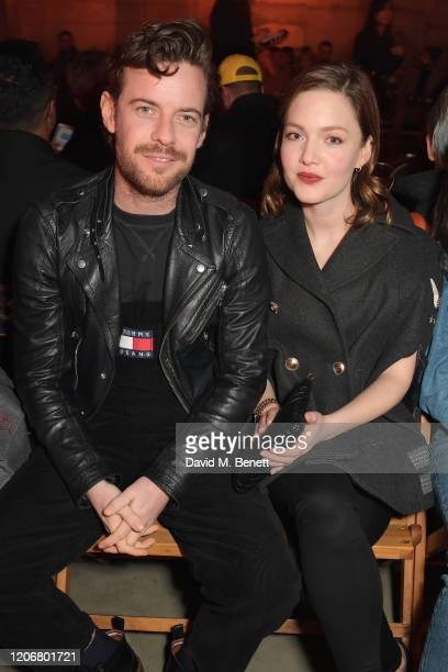 Harry Treadaway and Holliday Grainger attend the TOMMYNOW London Spring 2020 at Tate Modern on February 16 2020 in London England